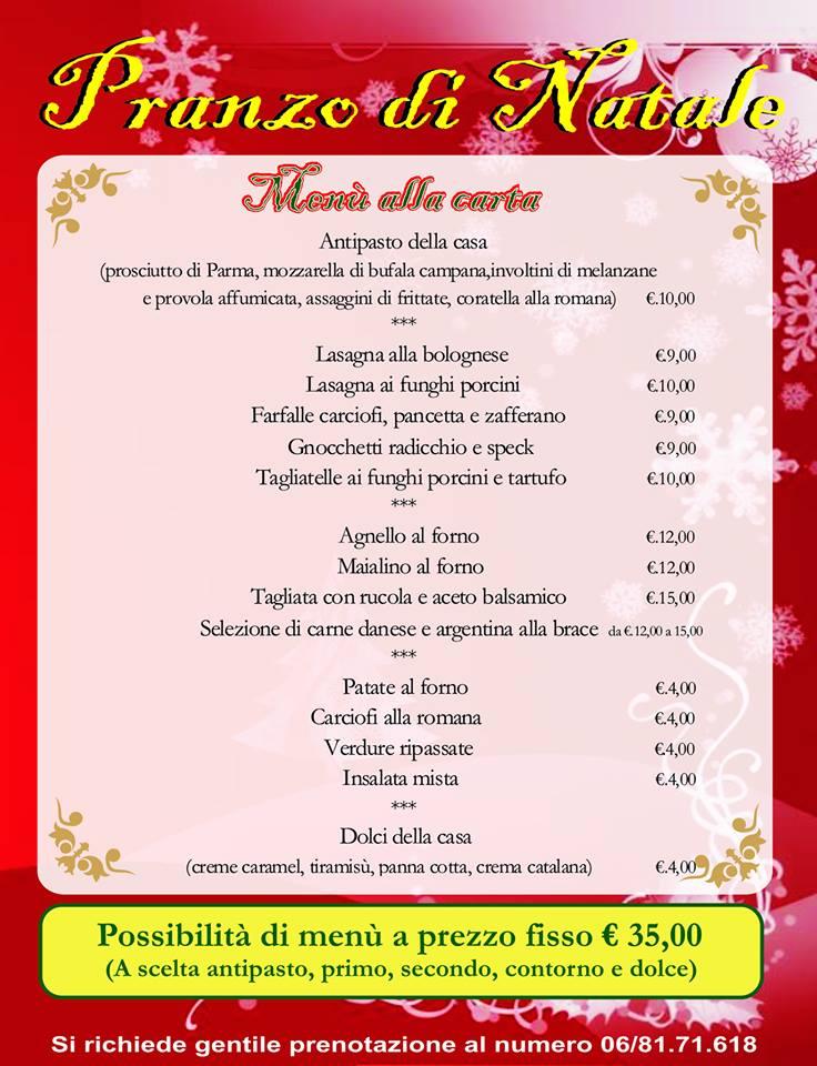 Menu pranzo natale ristorante roma - Menu per ospiti a pranzo ...