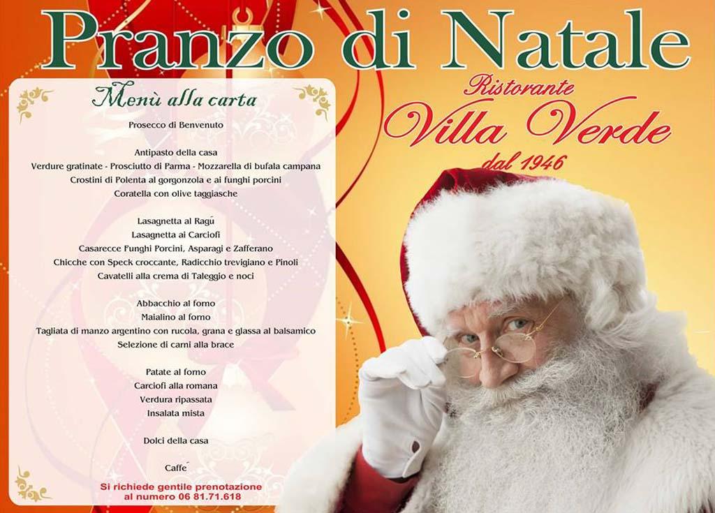Menu Di Natale A Roma.Menu Pranzo Natale Ristorante Roma